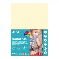 Gekleurd Karton Pastel A4 50-dlg.