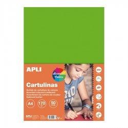 Gekleurd Karton Fluor A4 50-dlg.