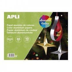 Gekleurd Aluminiumfolie Papier 32 x 24 cm 10-delig