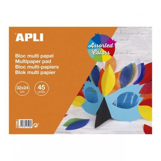 Multi Papier 45-delig , 32 x 24 cm groot uit papier in 10 kleuren. Geschikt vanaf 3+.