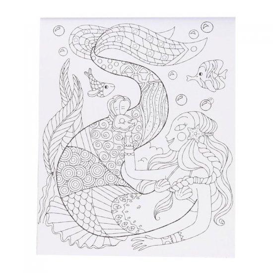 Creatief Kleurblok voor Meisjes , 23 x 28 cm groot uit stevig papier. Geschikt vanaf 6+.