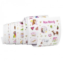 Stickers op rol Miss Melody 500+