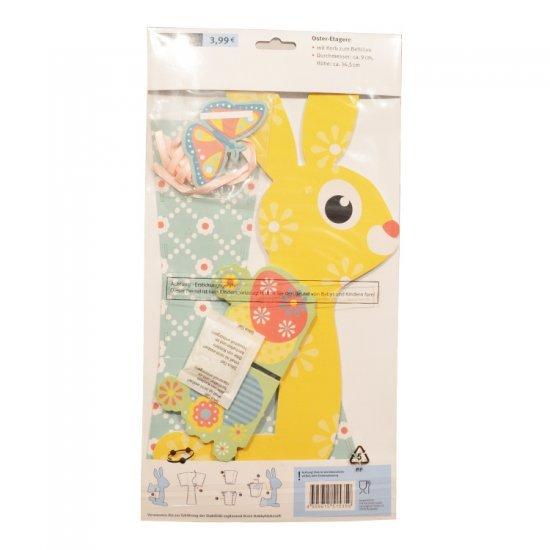 Bouw je eigen Paashaas Geel 36 cm , 38 x 20 cm groot uit foam in de kleur geel. Geschikt vanaf 3+.