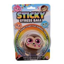 Stressbal Sticky Aap 7 cm.