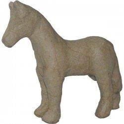 Paard Papier-Maché 11 x 11 cm
