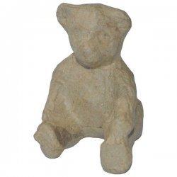 Teddybeer Papier-Maché 8 x 6 cm