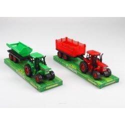Tractor met aanhangwagen 24cm 2 ass.