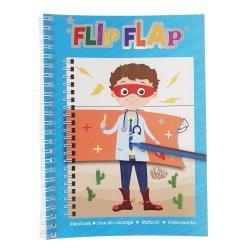 Flip Flap Kleurboek Jongens 3-delig.