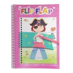 Flip Flap Kleurboek Meisjes 3-delig.