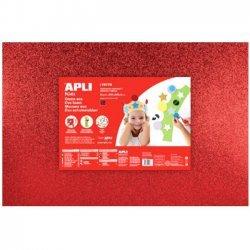Foam - Schuimrubber Glitters Rood 1-Vel 400x600x2mm