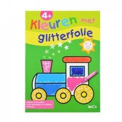 Kleuren met Glitterfolie Locomotief 4+