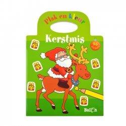 Stickerboek Kerstmis Plak en Kleur