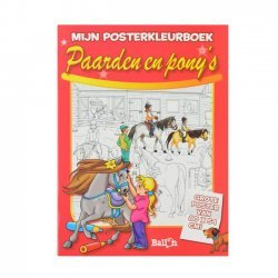 12 x Posterkleurboek Paarden en Pony's
