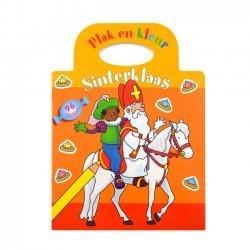 Stickerboek Sinterklaas Plak en Kleur