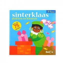 Stickerboek Sinterklaas Plak en Kleur 2-5 Jaar