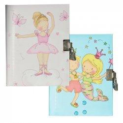 Dagboek met Slot 13,5 x 17,5 cm 3 ass.