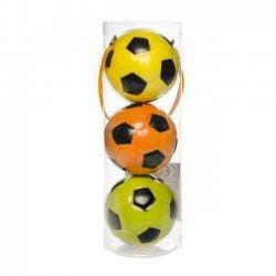 Bal Voetbal 6 cm 3 stuks in Koker