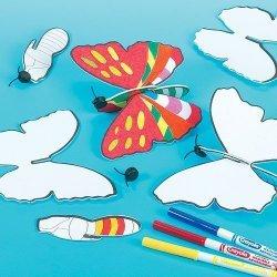 Kleur uw Vlinder Vliegtuig in - Set van 6 stuks