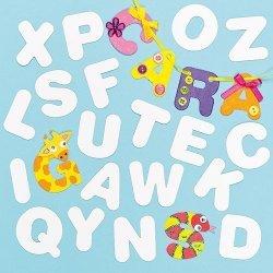 Blanco Alfabet Inkleur Kaarten - Set van 120 stuks