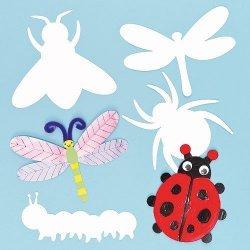 Blanco Insecten Inkleur Kaarten - Set van 10 stuks