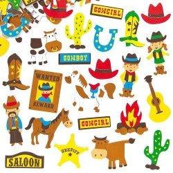 Foam Stickers COWBOY  120-dlg.