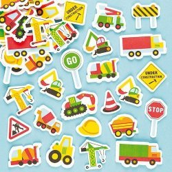 Foam Stickers CONSTRUCTIE  100-dlg.