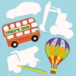 Blanco Transport Inkleur Kaarten - Set van 10 stuks
