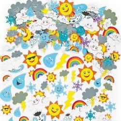 Foam Stickers HET WEER  96-dlg.