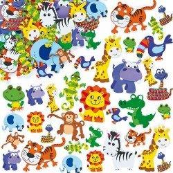 Foam Stickers JUNGLE DIEREN  96-dlg.