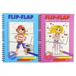 24 x Flip Flap Kleurboek 2 assorti