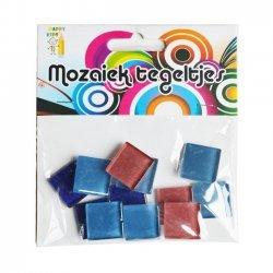 Mozaiek Steentjes Blauw - Rood