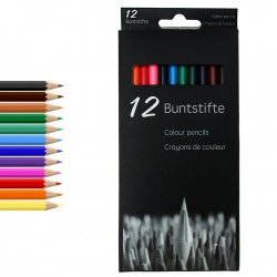 Kleurpotloden 12-delig 18 cm.
