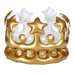 Kroon Opblaasbaar 23 cm Goud - Zilver