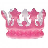 Kroon Opblaasbaar 23 cm Roze
