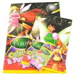 Set Kleur en Activiteiten Boek + 6 Kleurpotloden Fairies