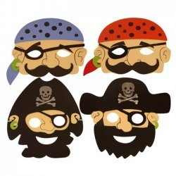 24 x Piraten Masker Foam