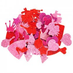 Foam Glitter Stickers Prinses
