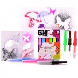 12 x Spray Pens - Blaaspennen 6-delig