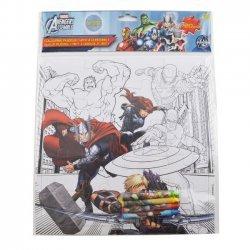 Kleur Puzzel The Avengers 25 x 25 cm