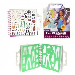 12 x Schetsboek Fashion Girl met Stickers