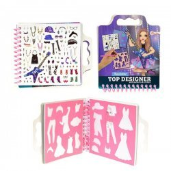 Schetsboek Girl Rockstar met Stickers