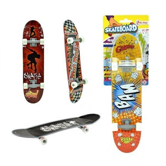 Hand Skateboard, 27 x 7 cm groot uit kunststof in de kleur ass.. Geschikt vanaf 3+.