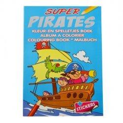 Super Piraat Kleur-en Spelletjes Boek