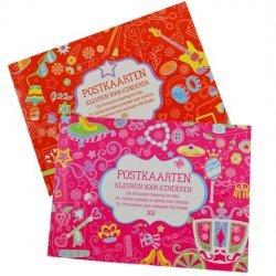 24 x Postkaarten Kleuren voor Kinderen