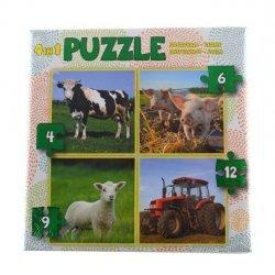 Puzzel 4in1 Boerderij