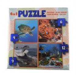 Puzzel 4in1 Zeeleven