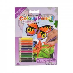 Kleuren op Nummer CPNMIN102 - 127 x 178 mm. Vlinders