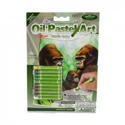 Kleuren met Olie Pastels OPSMIN101 - 127 x 178 mm. Gorillas
