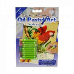 Kleuren met Olie Pastels OPSMIN105 - 127 x 178 mm. Papegaaien