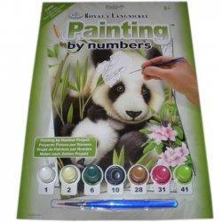 Schilderen op Nummer  PJS39 Panda & Baby  22x29 cm.